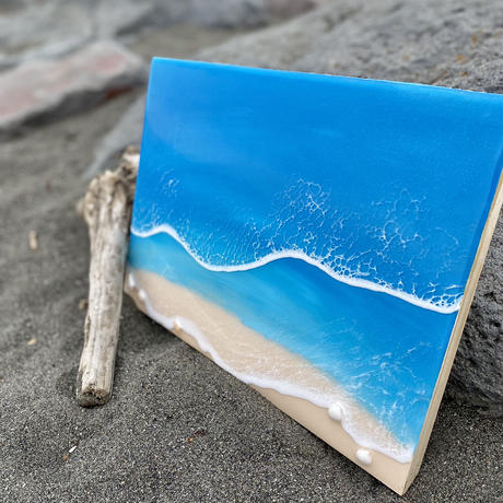 Resin art panel by Hawaii one surf