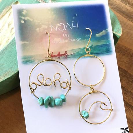 aloha  double ring pierce