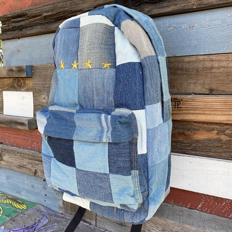 Denim Patchwork Back puck