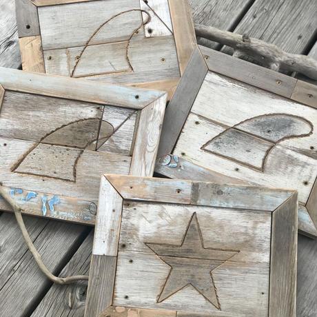 Wood art board by puka場art