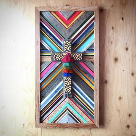wood cross  board  by sea shoreinc.