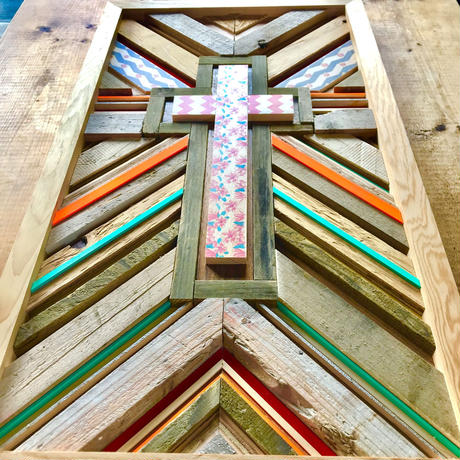 cross wood panel by seashore.inc