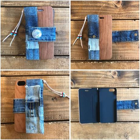 DENIM×WOOD iPhone case