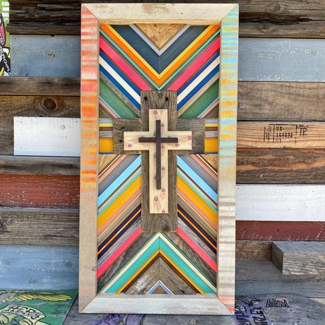 Cross wood board by seashore inc.