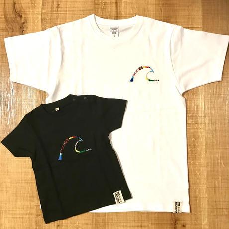 Wave 刺繍Tシャツ