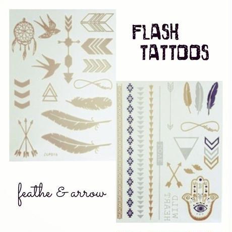 flash tattoo 2枚セット feather