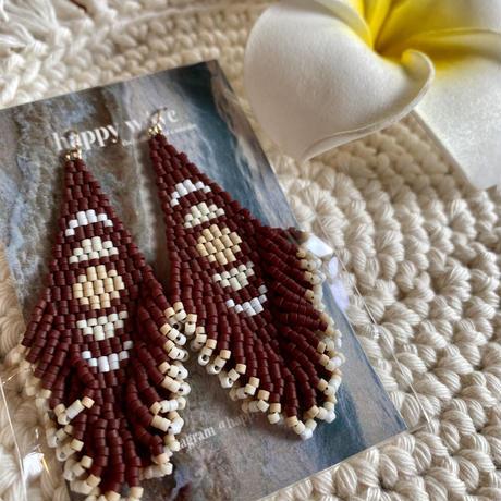 Beads fringe moon pierce by happywave