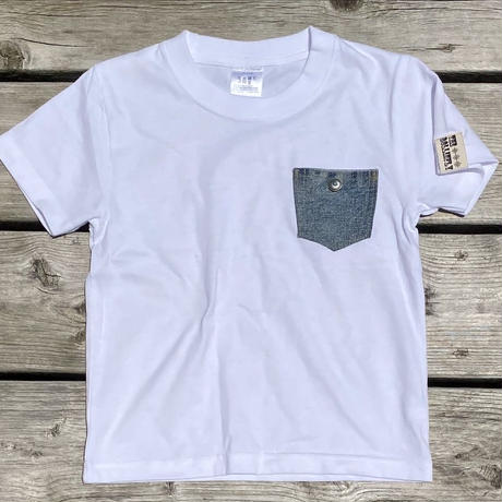 Kids Pocket denim Tee