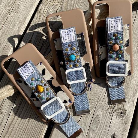 iPhone case 11 (studs&denim)