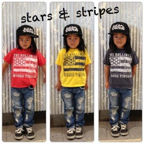 stars & stripes キッズTシャツ ネイビー