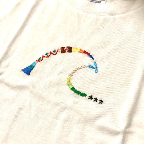 Wave 刺繍  kidsTシャツ