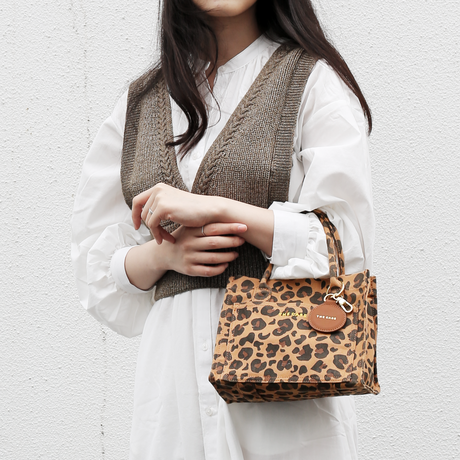 【COW/LEOPARD(BEIGE)/LEOPARD(BROWN)のみ予約】財布、スマホ、ポーチ、ペットボトルがちょうど収まるサイズ DAILY MILLER TOTE mini