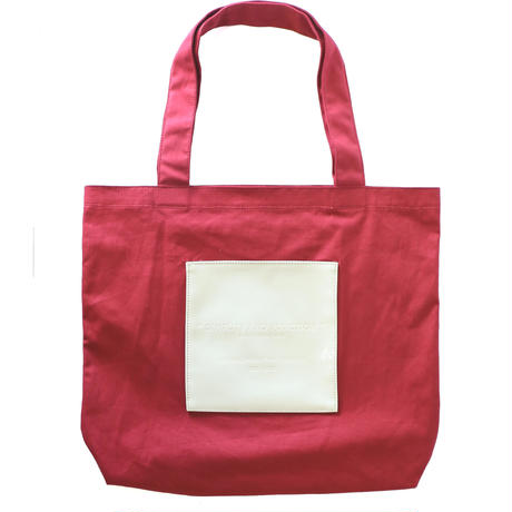 NAME ENAMEL POCKET TOTE (VBOM-4472)