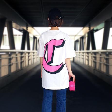THE CHARLIE TOKYO C LOGO S/S T-SHIRT (WHT×PNK)