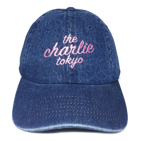 THE CHARLIE TOKYO SCRIPT LOGO DENIM CAP