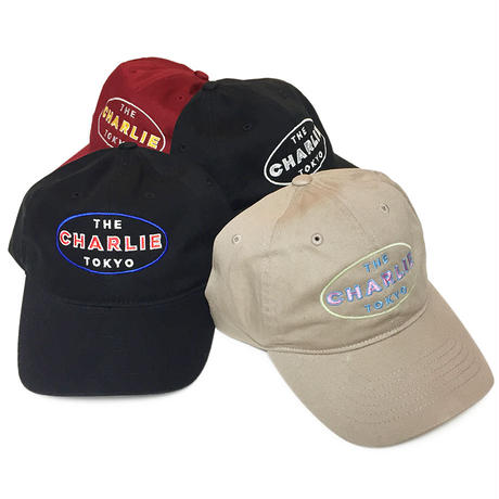 THE CHARLIE TOKYO OVAL LOGO 6PANEL CAP (BURGUNDY)