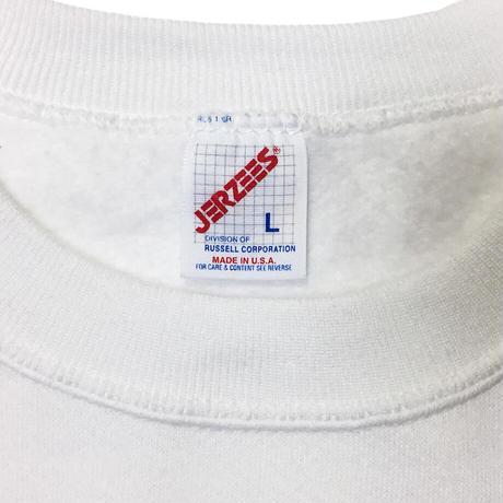 THE CHARLIE TOKYO COLLEGE LOGO SWEATSHIRT (WHITE × SAX)