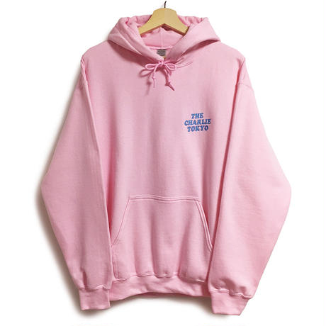 THE CHARLIE TOKYO EMBROIDERY LOGO HOODIE (L.PINK)