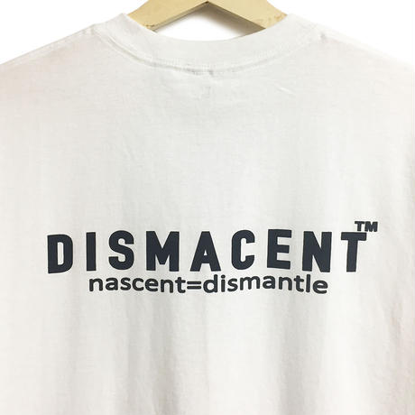 DISMACENT BACK PRINT S/S TEE (WHITE)