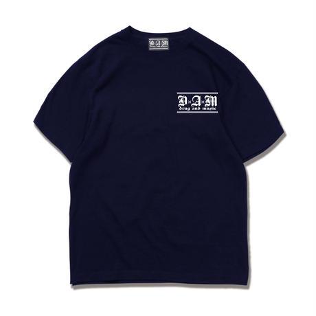 DxAxM x THE CHERRY COKE$ コラボレーションTシャツ【 NAVY】
