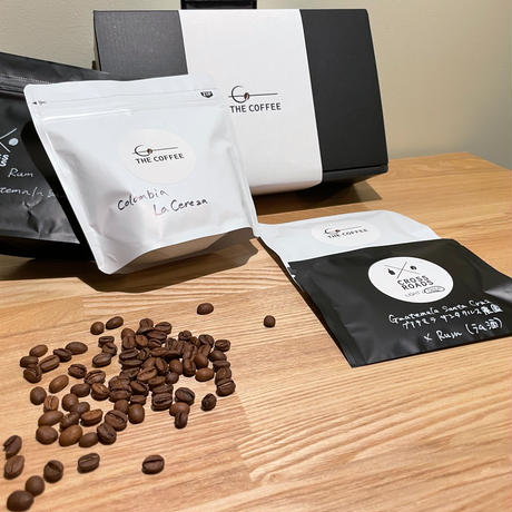 GIFT(COFFEE BEANS100g×2)ギフト コーヒー豆100g×2種+ギフトボックス+α