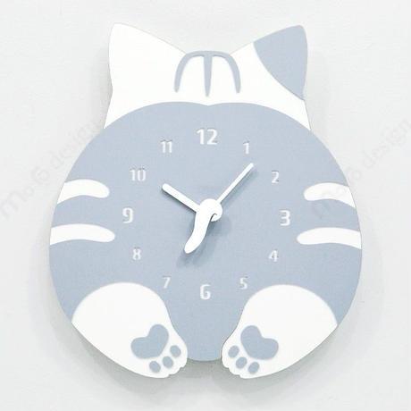 【ハンドメイド】ウォールクロック - CHUBBY HIP - ネコ