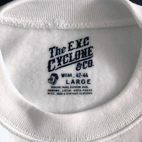 【CYCLONE】リバースウィーブ型スウェット/ホワイト