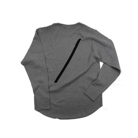 the FACTORY ワッフルロングTシャツ(ヘザーグレー)