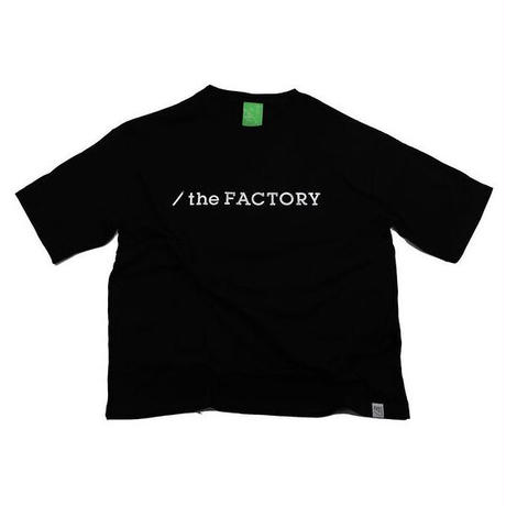 the FACTORY ロゴTシャツ(黒×銀)