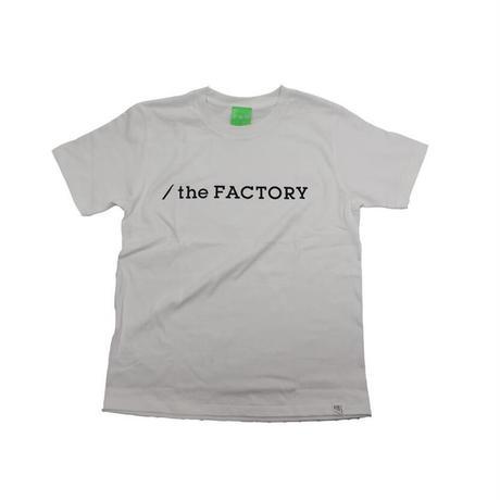 the FACTORY  ロゴTシャツ (白×黒ロゴ)