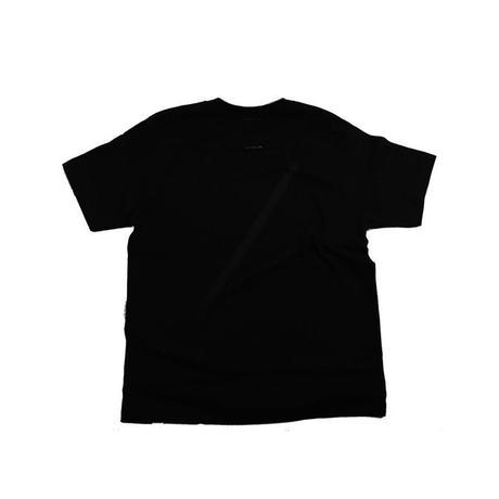 the FACTORY ロゴTシャツ (黒×黒ロゴ)