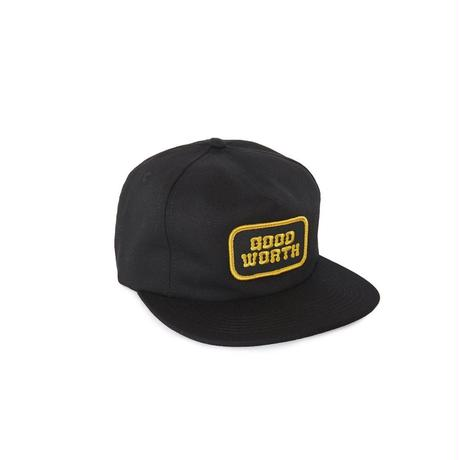 LOGO 5 PANEL STRAPBACK - BLACK