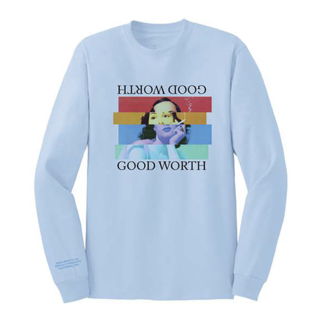 STAGGERED LONG SLEEVE - LIGHT BLUE