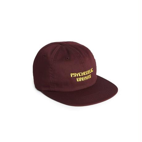 Psychedelic Dreams 6 Panel Strapback - Burgundy