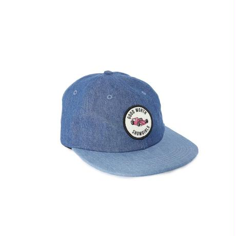 GRAND PRIX 6 PANEL STRAPBACK - 2 TONE DENIM