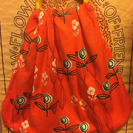 プラスチック持ち手バッグレトロ オレンジ