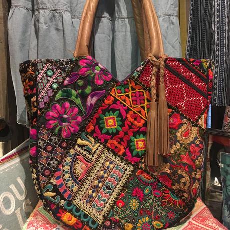 インド 刺繍 パッチワーク バッグ