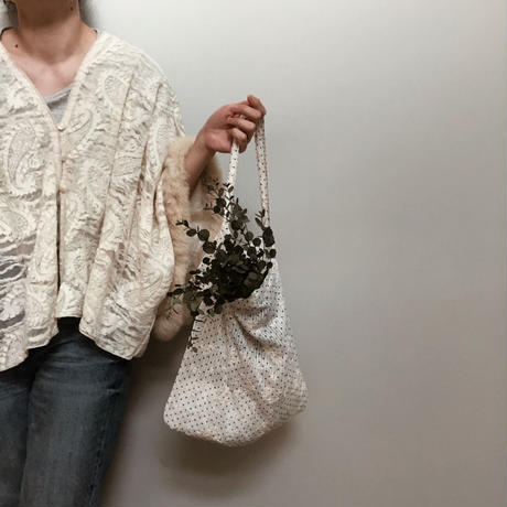 embroidery Flower cotton tote bag