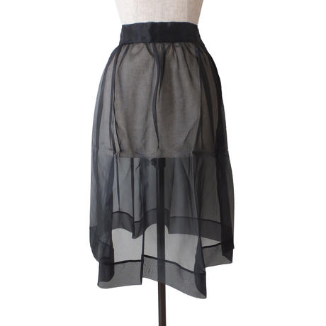 sheer skirts_Black