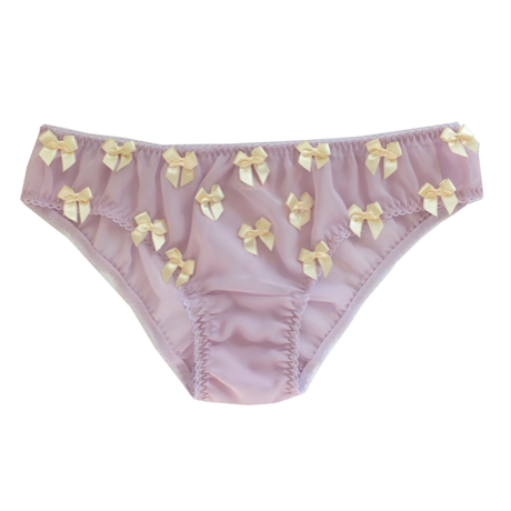 Ribbon pantie-purple