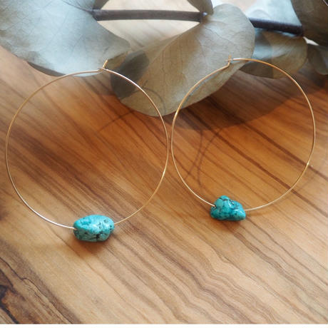 Turquoise earrings(5cm)