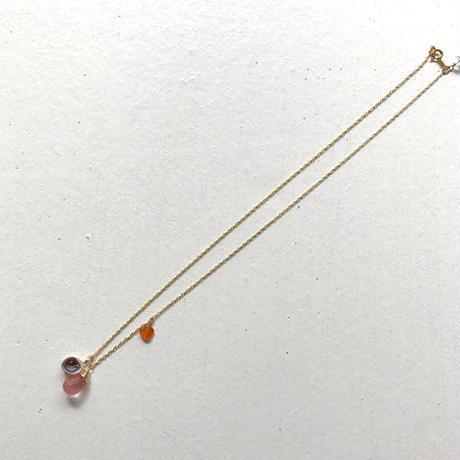 チェリークオーツのネックレス