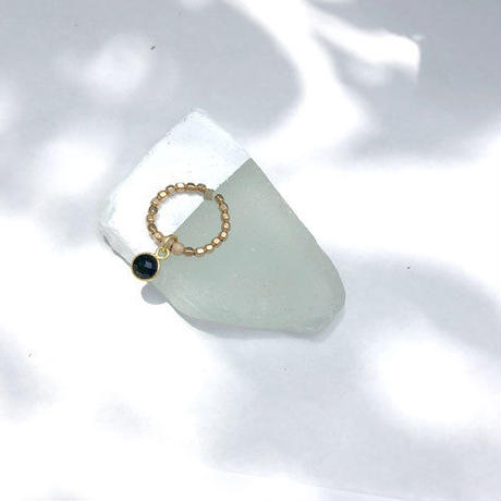★mauimarioceanjewelry 14kgf GOLD ring  black Mサイズ