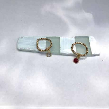 ★mauimarioceanjewelry 14kgf GOLD ring pink Lサイズ