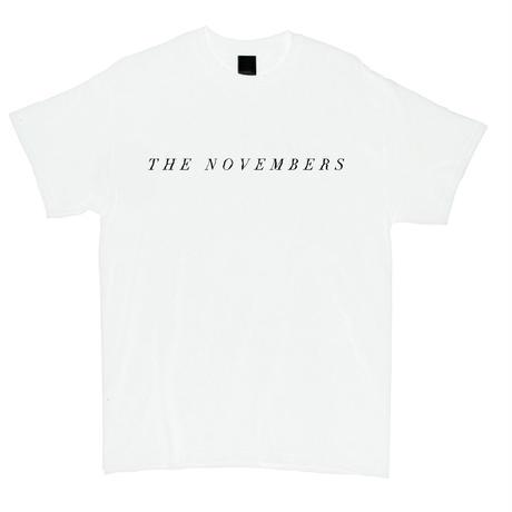 """THE NOVEMBERS"" T-Shirt (White / MERZ-161)"