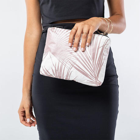 ALOHA Collection Day Palms Pouch S - Rose Gold アロハコレクション デイパームスポーチS-ローズゴールド