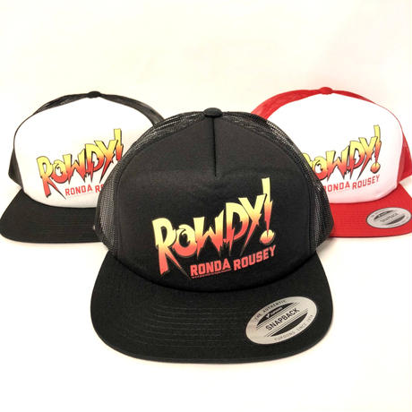 "【WWE】""ロンダ・ラウジー""メッシュキャップ(黒×黒・黒×白・赤×白)"