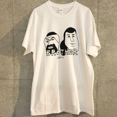 [中邑真輔]BROTHER Tシャツ(white・sports-gray)