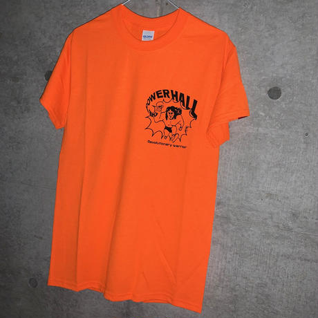 [DEPT]THE POWER HALL TEE ORANGE[長州力]