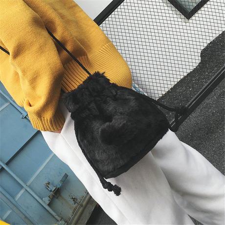 【3カラー】エコファー 巾着 バッグ